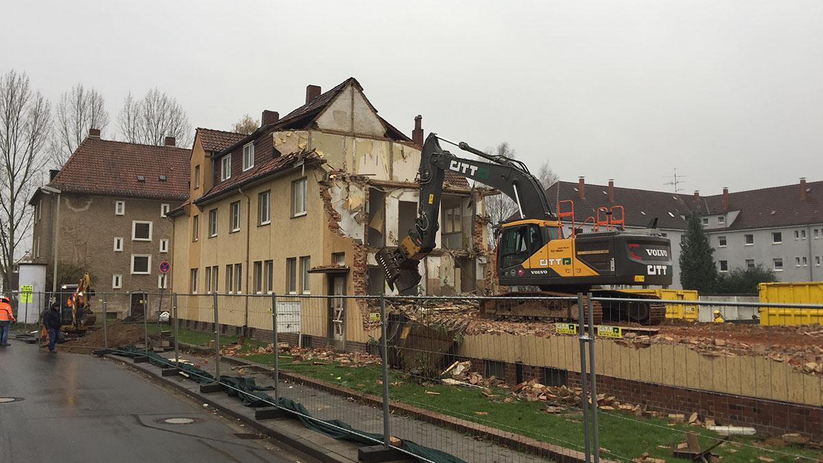 Stüvestraße Abriss des Hauses